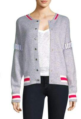Zoe Jordan Lace-Up Bomber Jacket