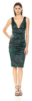Nicole Miller Women's Lurex Tucked Dress
