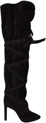 Saint Laurent Tie-Up Over-The-Knee Boots