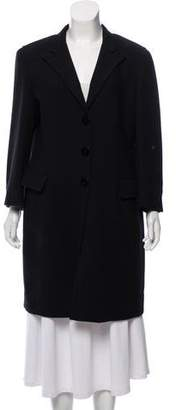 Armani Collezioni Wool Knee-Length Coat