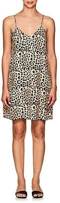 ATM Anthony Thomas Melillo Women's Leopard-Print Silk Slipdress