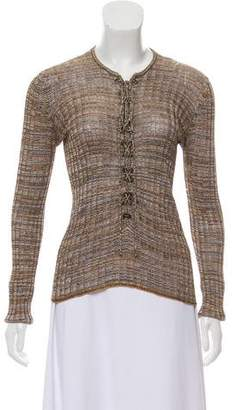Dolce & Gabbana Long Sleeve Lace-Up Top