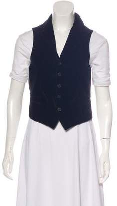 Dolce & Gabbana Velvet Button-Up Vest