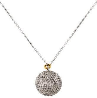 Gurhan 18K Diamond Ball Pendant Necklace