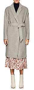 Martin Grant Women's Alpaca-Wool Belted Cardigan Coat - Light Gray