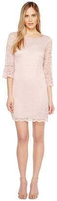 Laundry by Shelli Segal Lace Dress with 3/4 Sleeve Women's Dress