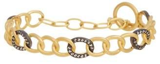 Freida Rothman Two-Tone Hard Link Bracelet