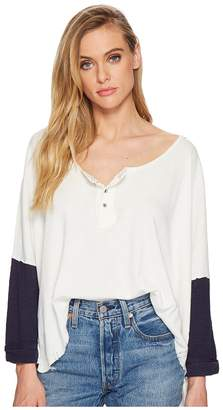 Free People Star Henley Women's Long Sleeve Pullover