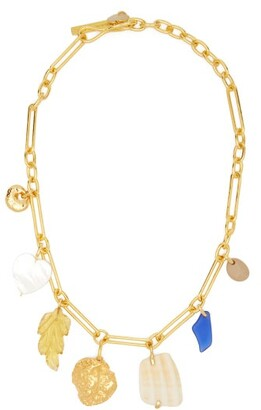 Lizzie Fortunato Paradise Gold Plated Charm Necklace - Womens - Gold