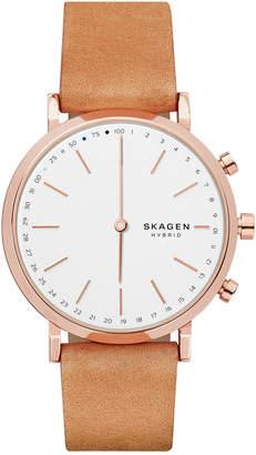 Skagen Women's Hald Tan Leather Strap Hybrid Smart Watch 40mm