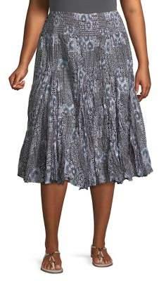 Context Plus Printed Midi Skirt