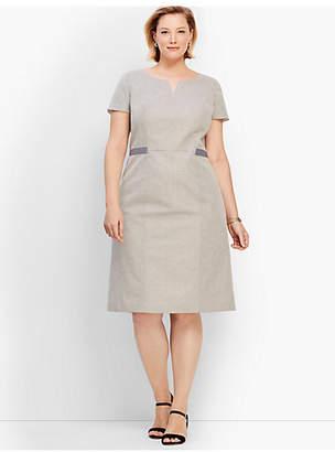 Talbots Square Dobby A-Line Dress