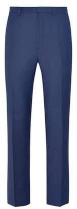 Burton Mens Mid Blue Texture Slim Fit Suit Trousers