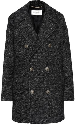 Saint Laurent Wool-blend tweed coat
