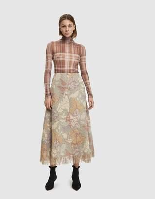 Acne Studios Floral Boucle Skirt
