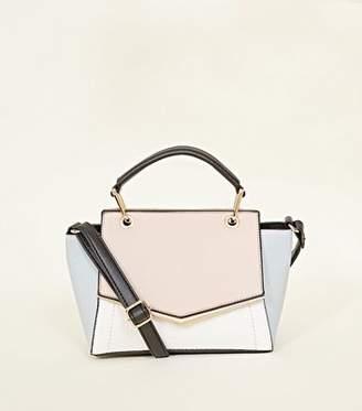 New Look Cream Colour Block Cross Body Bag