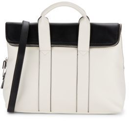 Two-Tone Fold-Over Satchel $98 thestylecure.com