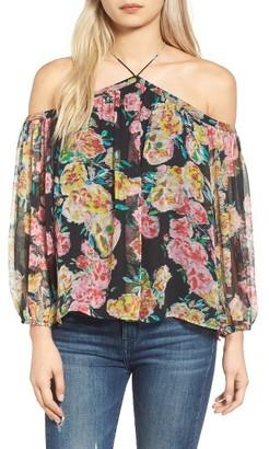 Women's Ella Moss Jaeda Cold Shoulder Silk Blouse $168 thestylecure.com