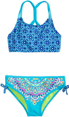 LTB Breaking Waves 2-Pc. Mixed-Print Bikini, Little & Big Girls