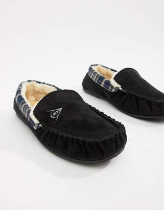 f011abc73 Dunlop Suedette Sheepskin Lined Mocasin Slipper