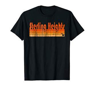 Retro 80s Style Sterling Heights MI T-Shirt