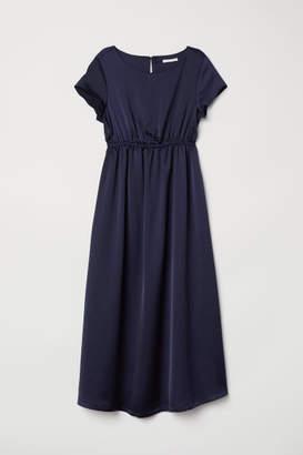 H&M MAMA Short-sleeved Dress - Blue