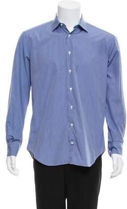 Barneys New York Barney's New York Trim Fit Plaid Button-Up Shirt