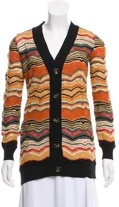 Missoni Lightweight V-neck Cardigan Orange Lightweight V-neck Cardigan