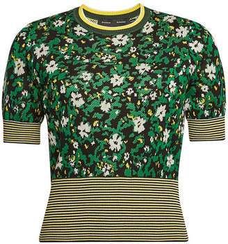 Proenza Schouler Floral Silk Top