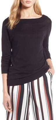 Halogen Convertible Bateau Neck Sweater (Regular & Petite)