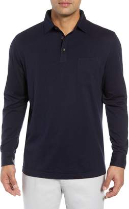 Peter Millar Crown Fleece Long Sleeve Stretch Cotton & Cashmere Polo