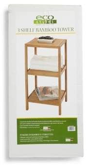 Creative Bath Three-Shelf Bamboo Tower