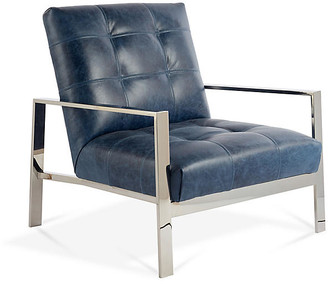 Massoud Furniture Theo Accent Chair - Ocean Leather
