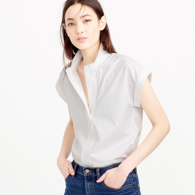J.CrewPetite short-sleeve popover shirt
