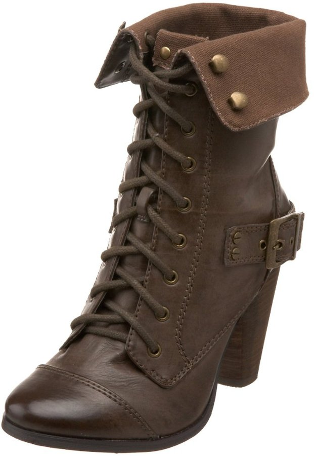 Steve Madden Women's Awoll Lace-Up Bootie
