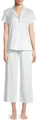 Natori Printed Cotton Jersey Pajama Set