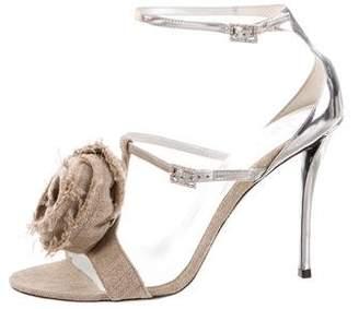 Roger Vivier Floral Ankle Strap Sandals