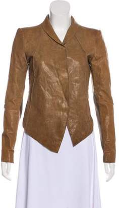 Helmut Lang Structured Leather Jacket Brown Structured Leather Jacket