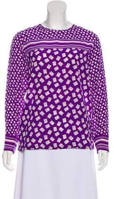 Max Mara Silk Long Sleeve Top