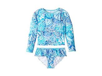 Lilly Pulitzer Upf 50 Cora Rashguard Swim Toddler Little Kids