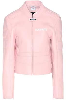Vetements Exclusive to mytheresa.com – leather jacket