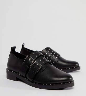 Asos Design MOLTEN Premium Leather Flat Shoes