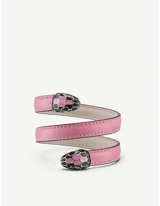 Bvlgari Serpenti Forever Cleopatra leather bracelet