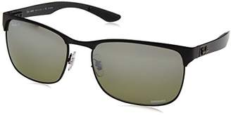 Ray-Ban 8319 Chromance Black / Pink Gradient Mirror Sunglasses