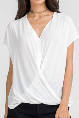 Lush White Wrap Top