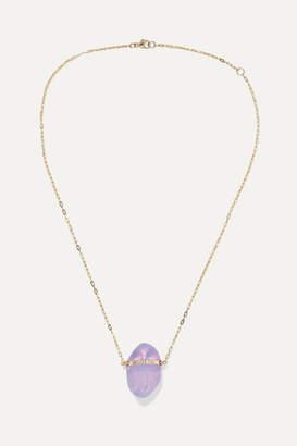 df38e7683afec2 Harris Zhu - 14-karat Gold Moonstone Necklace - one size