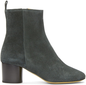 Isabel Marant Grey Suede Deyissa Boots $560 thestylecure.com