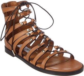Jimmy Choo Gigi Stud Embellished Vachetta Leather Sandal