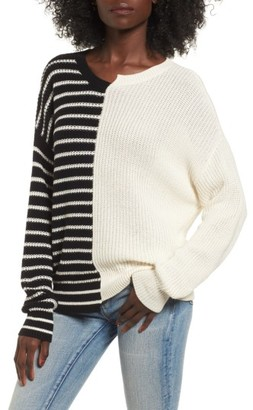 Women's Bp. Colorblock Cotton Sweater $49 thestylecure.com