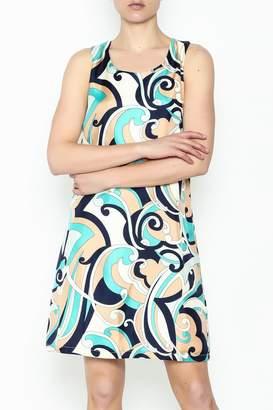 Julie Brown NYC Navy Swirl Leah Dress
